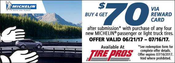 Michelin Summer Reward - $70